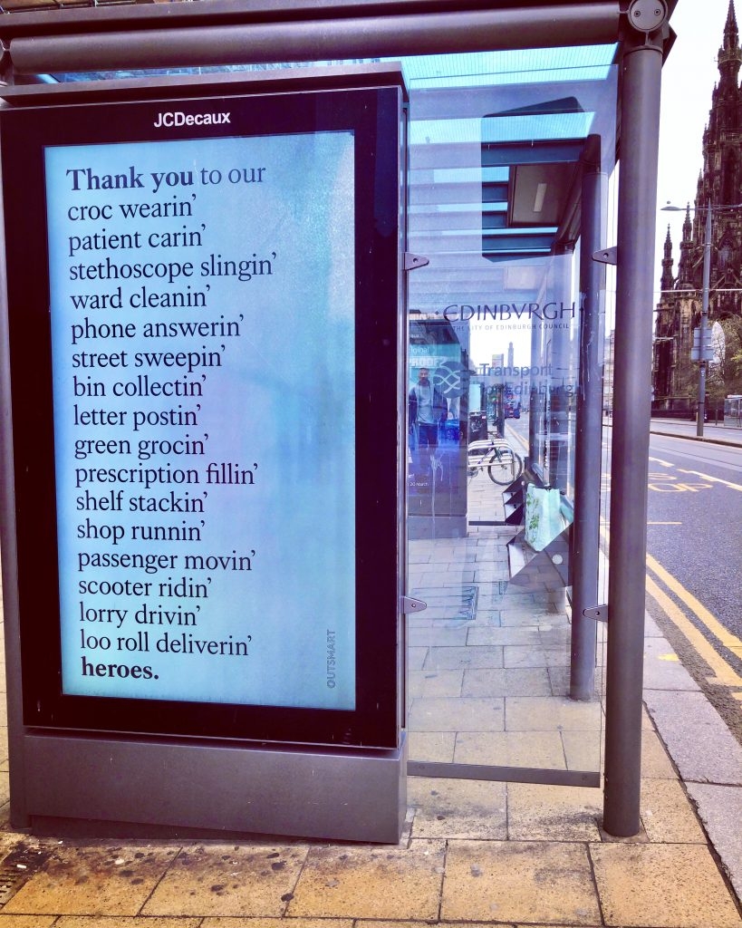 Thanks Bus Shelter Ad - Princes Street